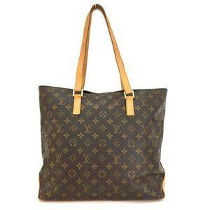 Auth Louis Vuitton Monogram Cabas Mezzo Tote Bag